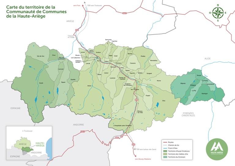 Territoire de la Haute-Ariège - Réalisé par Inconito