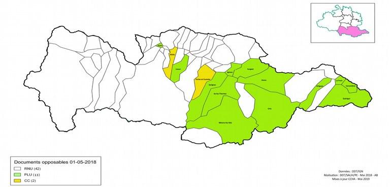 Carte Urbanisme Haute Ariège